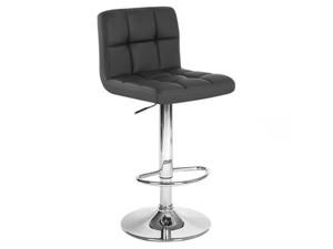 "Boris Contemporary ""Leather"" Adjustable Barstool - Black"