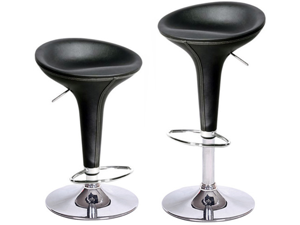 "CONTEMPORARY ""LEATHER"" BAR STOOL BOMBO STYLE BARSTOOL - MODERN ADJUSTABLE CHAIR"
