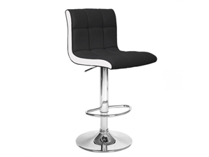NEW! MODERN LEATHER BAR STOOL ADJUSTABLE - ADJUSTING HEIGHT BARSTOOL CHAIR-BORIS