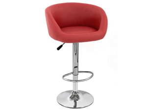 Sasha Contemporary Adjustable Barstool - Red