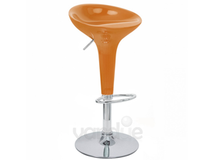 MODERN ADJUSTABLE BOMBO STYLE BAR STOOL - SCOOP BARSTOOL - COUNTER CHAIR - ALPHA