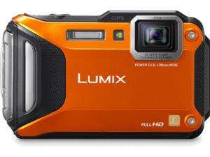 Lumix DMC-TS5 Digital Camera (Orange)