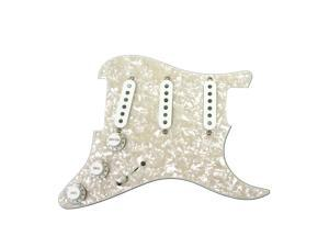920D Custom Yngwie Malmsteen Loaded Strat Pickguard White w/ DiMarzio HS-3 HS-4