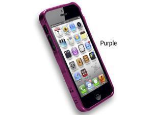 XGear Fortress 2 Aluminum Bumper Case For Apple iPhone 5 (Purple)