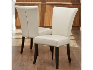 Stanford Ivory Leather Dining Chairs (Set of 2)