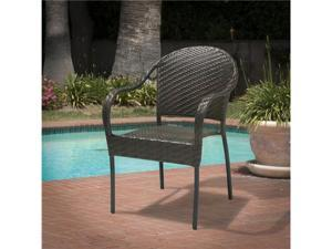Christopher Knight Home Sunset Fully-Assembled Outdoor PE Wicker Chair (Brown)