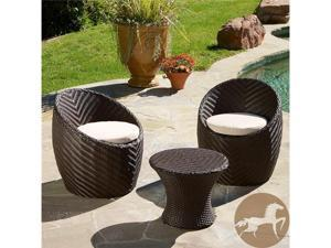 Christopher Knight Home La Jolla 3-Piece PE Wicker Chat Set