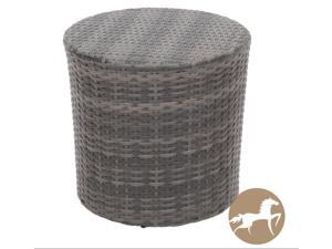 Christopher Knight Home Keaton Grey Wicker Barrel Side Table