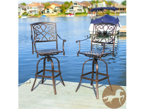 Christopher Knight Home Sahara Outdoor Bar Stools (Set of 2)