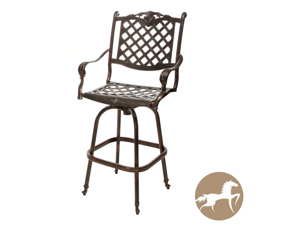 Christopher Knight Home Avon Cast Aluminum Copper Outdoor Bar Stool