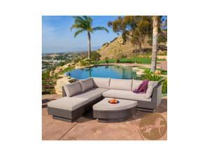 Christopher Knight Home Branson 4pc Multibrown Outdoor Sectional