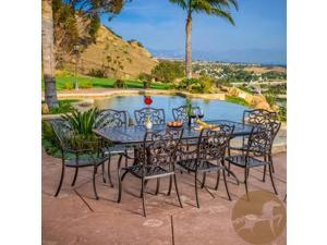 Christopher Knight Home Delray 9pc Cast Aluminum Copper Outdoor Dining Set