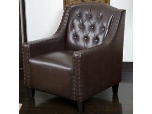 Christopher Knight Home Gabriel Tufted Leather Club Chair