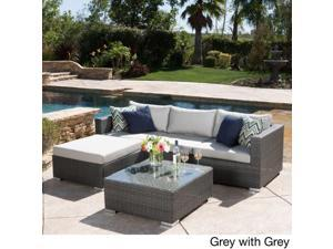 Santa Rosa Outdoor 5-piece Wicker Seating Sectional Set with Cushions by Christopher Knight Home