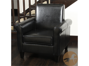 Christopher Knight Home Freemont KD Leather Chair (Black)