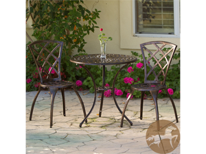 Christopher Knight Home 3-Piece Bronze Bistro Set