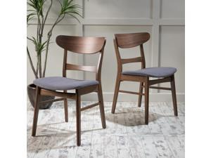 Christopher Knight Home Idalia Mid-Century Fabric Dining Chair (Set of 2)