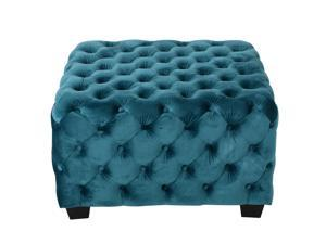 Christopher Knight Home Piper Tufted Velvet Fabric Square Ottoman Bench