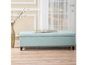 Christopher Knight Home Isra Fabric Storage Ottoman Bench