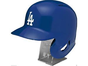 RAWLINGSMLBRLDODGERSL Los Angeles Dodgers Rawlings Full Size Batting Helmet - Left Ear Flap - with Display stand