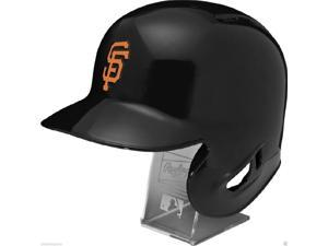 RAWLINGSMLBRLGIANTSL San Francisco Giants Rawlings Full Size Batting Helmet - Left Ear Flap - with Display stand