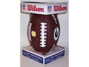 WILSONF1748PACKERS Wilson Green Bay Packers Full Size Composite NFL Football - F1748