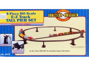Bachmann HO Scale Train E-Z Track System Accessory 8 Piece Tall Pier Bridge Set 44472