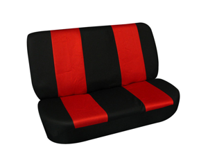 FH-FB102010 FH Group Classic Cloth Car Seat Covers Solid Bench Cover Red / Black