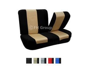 Fabric Split  Bench Seat Cover Beige