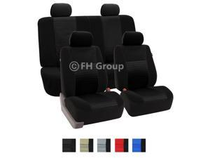 Fabric Seat Covers Airbag Ready & Rear 40/60, 50/50, 60/40 Split w. 4 Headrests