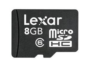 Lexar LSDMI8GBASBNAC6A 8Gb Micro Sd With Adapter Class 6