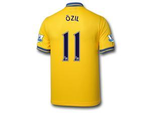 Men's 2013/14 Arsenal Mesut Özil 11 Away Soccer Jersey (US Size Medium)