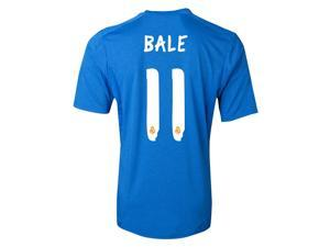 Men's 2013/14 Real Madrid Gareth Bale 11 Blue Away Soccer Jersey (US Size Medium)