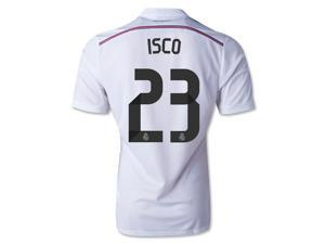 Men's 2014/15 Real Madrid Isco White Home Soccer Jersey (US Size Medium)