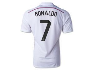Men's 2014/15 Real Madrid Cristiano Ronaldo 7 White Home Soccer Jersey (US Size Medium)