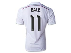 Men's 2014/15 Real Madrid Gareth Bale 11 White Home Soccer Jersey (US Size Medium)