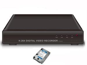 4 CH H.264 Real-time CCTV Security Surveillance DVR System - iPhone & Android Network Remote Viewing- 500G HDD