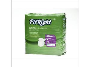MEDLINE FITULTRAXLG FitRight Ultra Briefs,X-Large