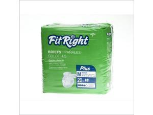 MEDLINE FITPLUSXXL FitRight Plus Briefs