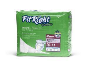 FitRight Restore Briefs,Regular - 80 Each