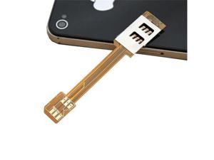 Dual SIM Card Adapter For Apple iPhone 5 4S 4 - Use Two Sim Card Now
