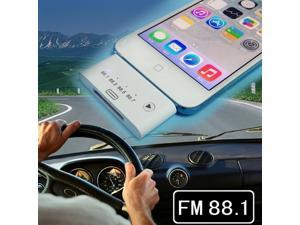 FM Radio Transmitter Hands Free Car Kit for iPhone 5 iPod Touch 5 - 3.5mm Audio Adapter