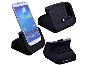New Data HotSync Dual Desktop Docking Charging USB Cradle Dock Battery Charger for Samsung Galaxy S4 i9500