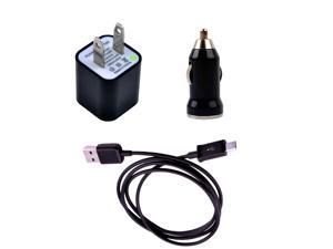 USB Data Sync Cable+Car Charger+AC Wall Charger For Samsung Galaxy S2 S II S3 S III