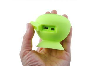 Yellow Green Portable SuctionWaterproof Shower Rechargeable Bluetooth Portable Suction Music Speaker for Smart Phones PC ... - OEM
