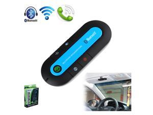 New Bluetooth Car Kit Hands Free Speaker Phone Wireless for Mobile Cell Phone-Blue - OEM