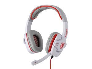 White Professional SA-708 Noise Cancelling Stereo Headphone Microphone MIC 3.5mm Games Gaming Headset Headphones Headband ...
