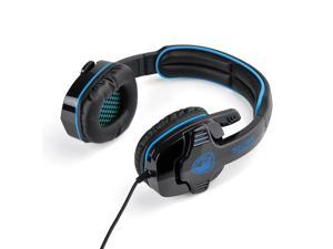 Blue Professional SA-708 Microphone MIC 3.5mm Stereo Headphone Games Gaming Headset Headphones Headband for PC Laptop Desktop ...