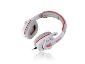 White Professional SA-708 Microphone MIC 3.5mm Stereo Headphone Games Gaming Headset Headphones Headband for PC Laptop Desktop ...