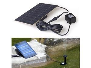 9V 1.8W Solar Panel Powered Brushless Water Fountain Pump Watering Kits For Rockery Fountain Pool Pond Garden Plants Yard ... - OEM